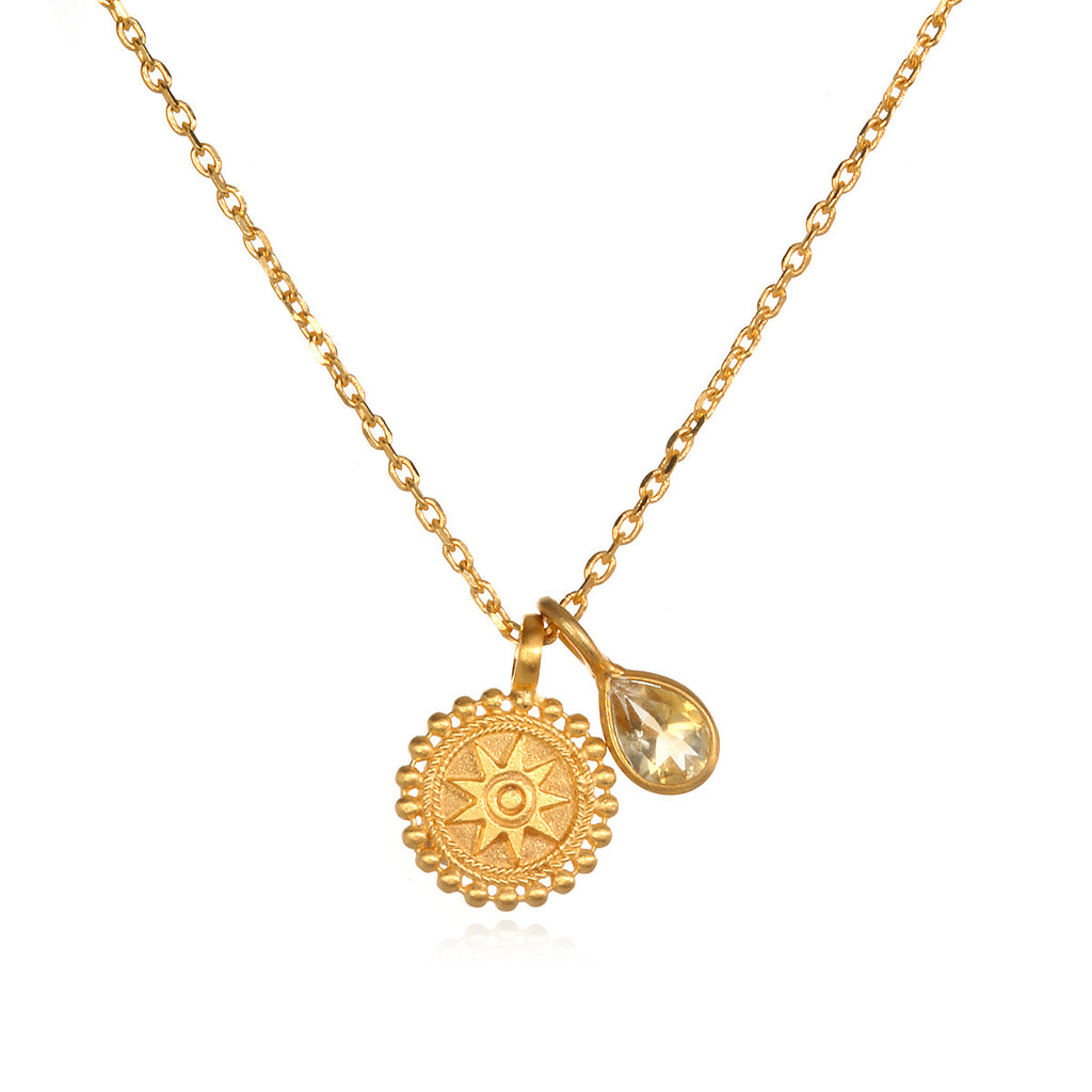 charm mandala necklaces gold muru health necklace purity vermeil happiness image