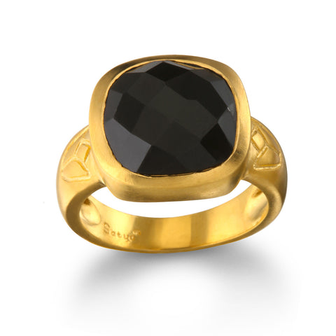 Gunmetal And Gold Moon Ring - Wax And Wane