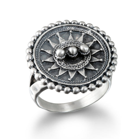 Encompass Paisley Wrap Rings Silver