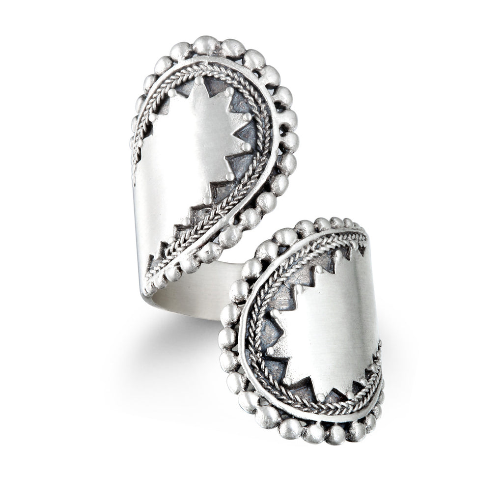 Encompass Paisley Wrap Rings Silver - Satya Jewelry