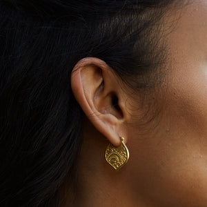 Eternal Devotion Gold Earrings