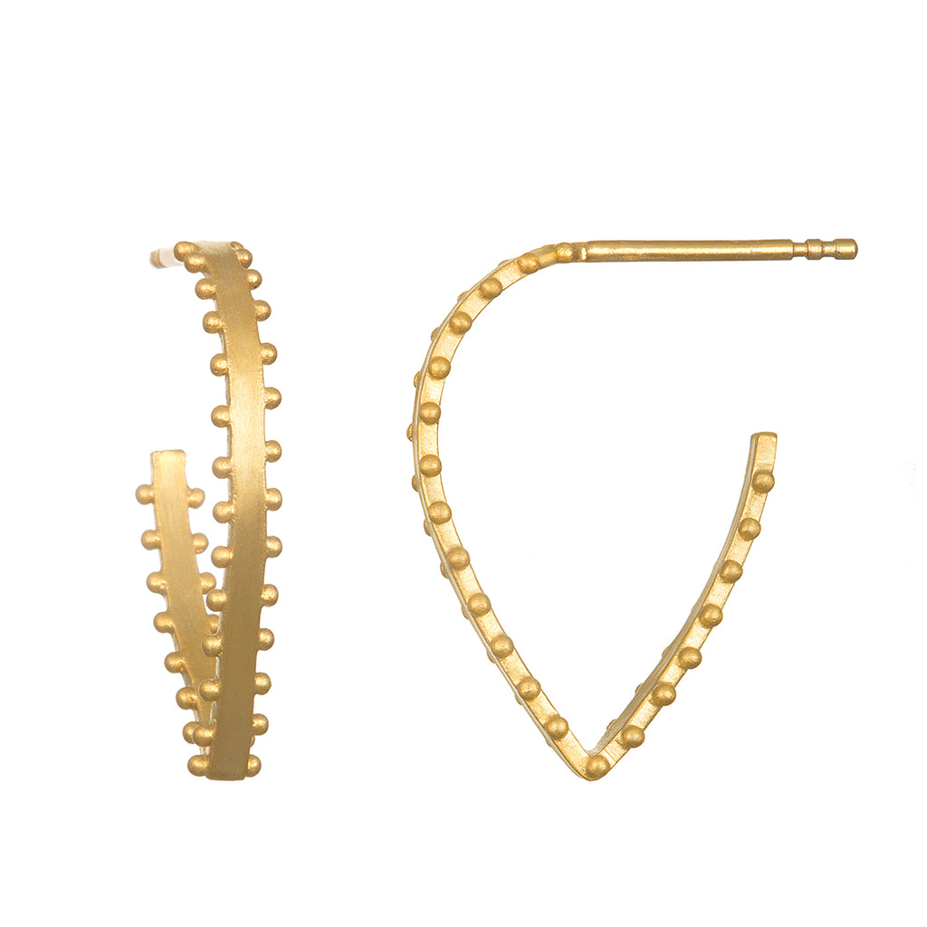 Integral Gold Hoop Earrings - Satya Jewelry