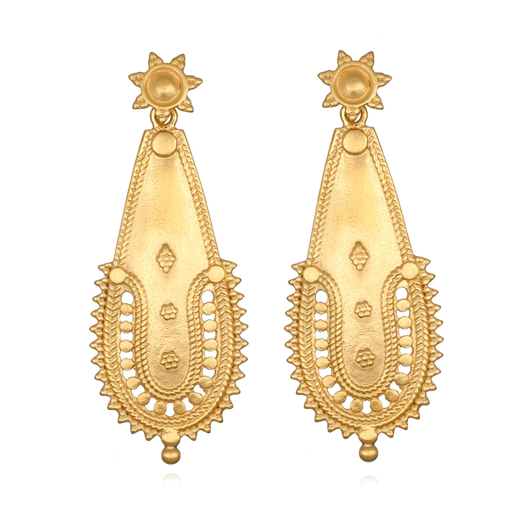 Classic Elegance Gold Earrings - Satya Jewelry