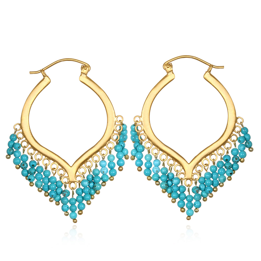 Dream Weaver Turquoise Earrings