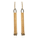Dance in the Light Pyrite Tassel Earrings