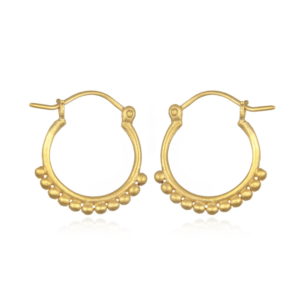 Gold Small Samsara Hoop Earrings - Satya Jewelry