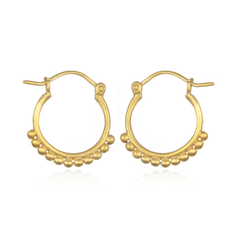 Lustrous Light Gold Earrings