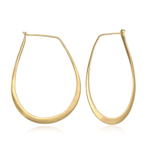 Minimalist Gold Hoop Earrings - Satya Jewelry