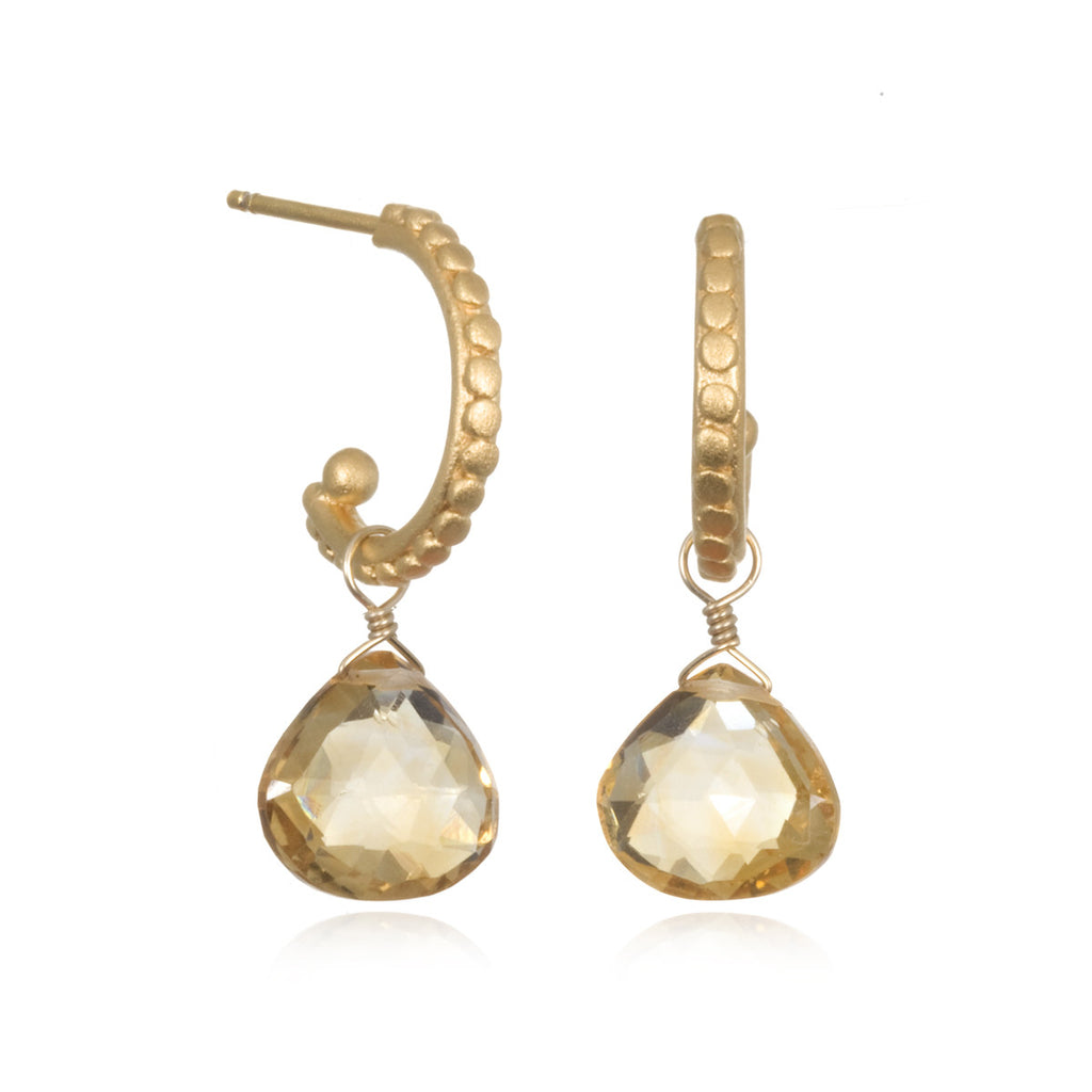 Gold Citrine Earrings - Bask in the Glow - Satya Jewelry