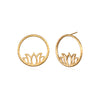 Flourishing in Creativity Gold Earrings - Satya Jewelry