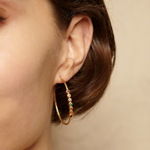 Balanced Spirit Gold Earrings - Satya Jewelry