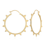 Radiant Sphere Gold Earrings