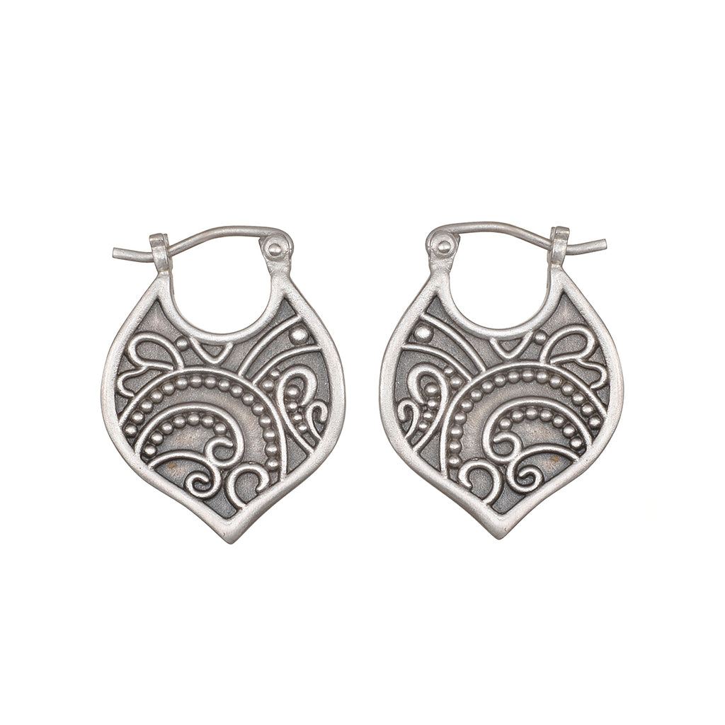 Eternal Devotion Silver Earrings - Satya Jewelry