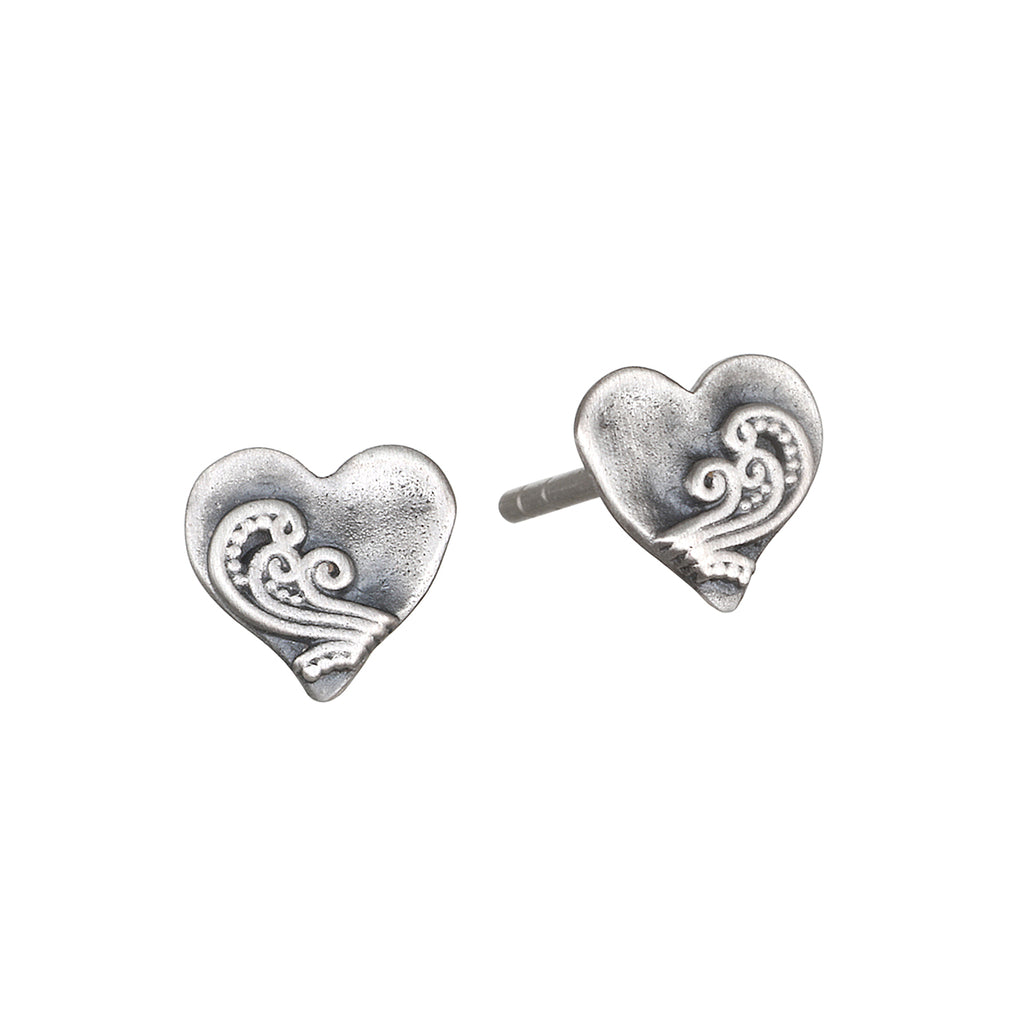 Spirit of Love Silver Stud Earrings - Satya Jewelry