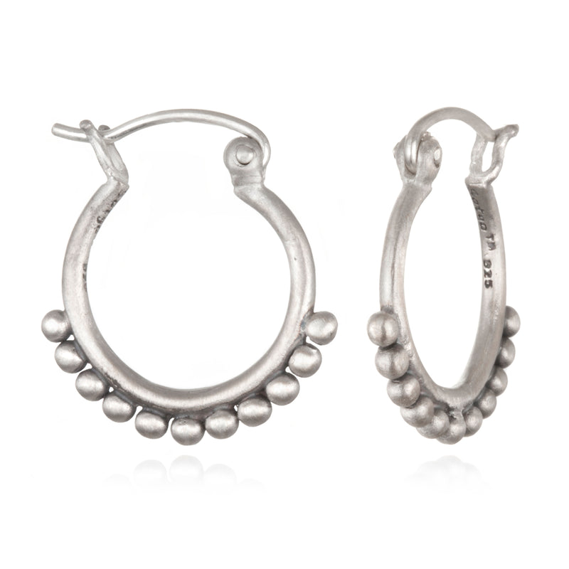 Silver Small Samsara Earrings - Satya Jewelry