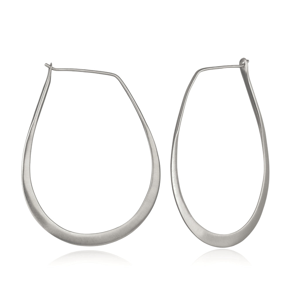 Minimalist Silver Hoop Earrings - Satya Jewelry