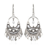 Silver Veils - Petal Chandelier Earrings - Satya Jewelry