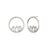 Flourishing in Creativity Silver Earrings