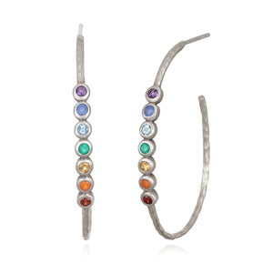 Balanced Spirit Silver Earrings - Satya Jewelry