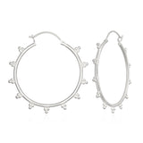 Radiant Sphere Silver Earrings