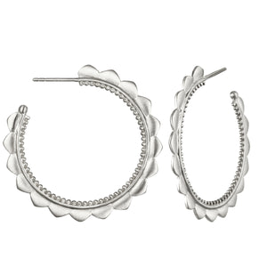 Silver Hoop Earrings - Satya Jewelry