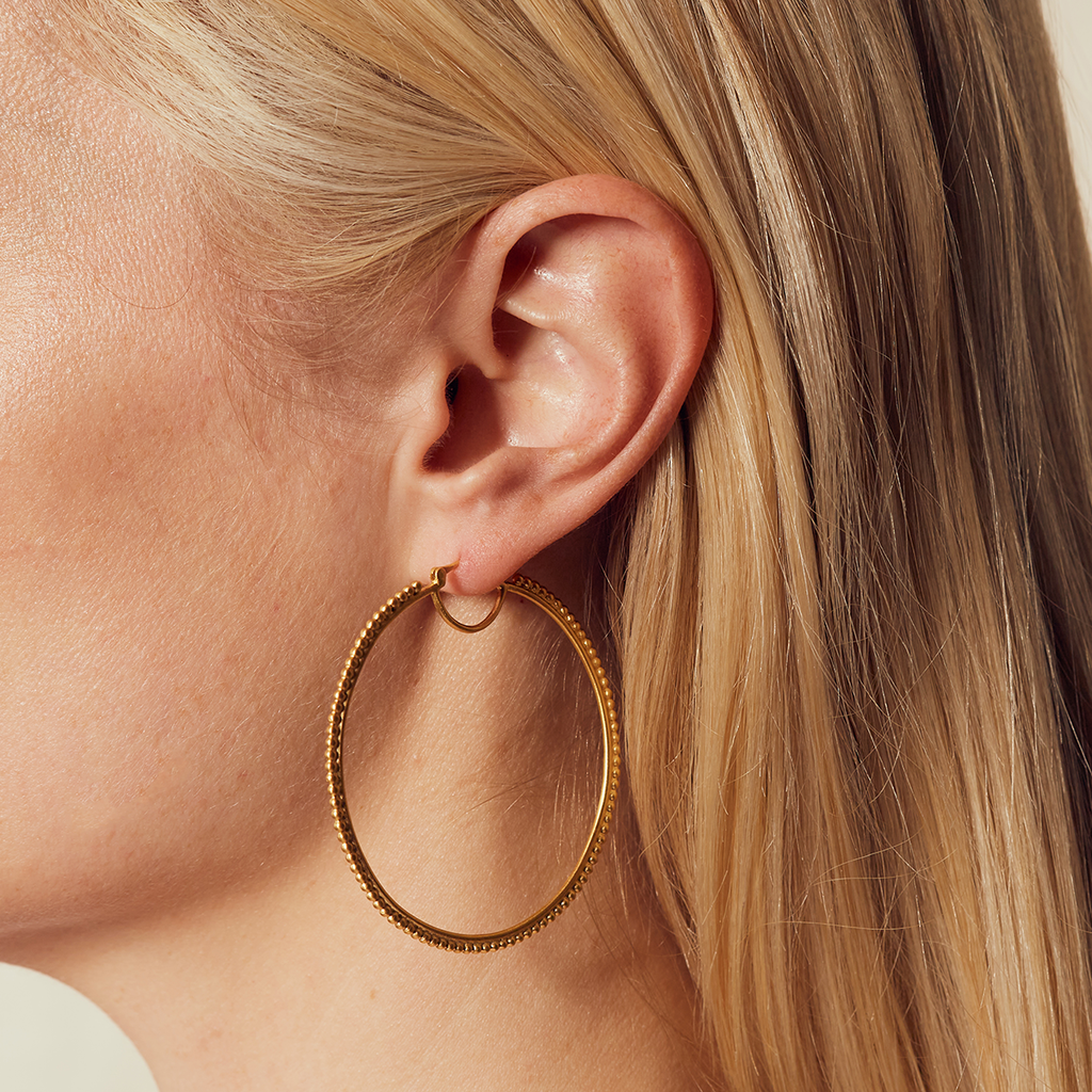 Infinite Energy Gold Hoop Earring