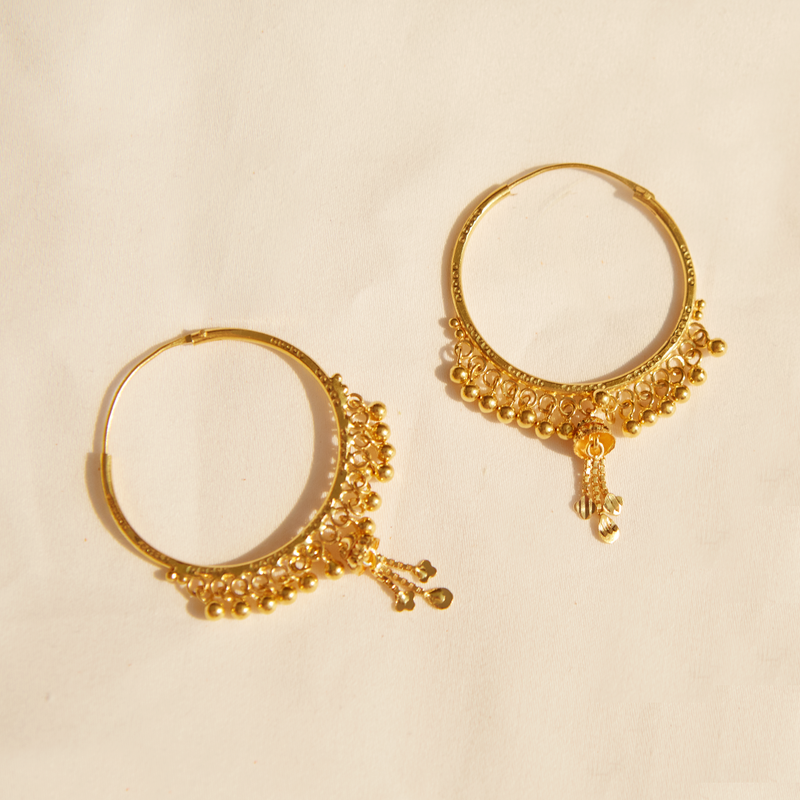 Luminous Being 22KT Hoop Earrings