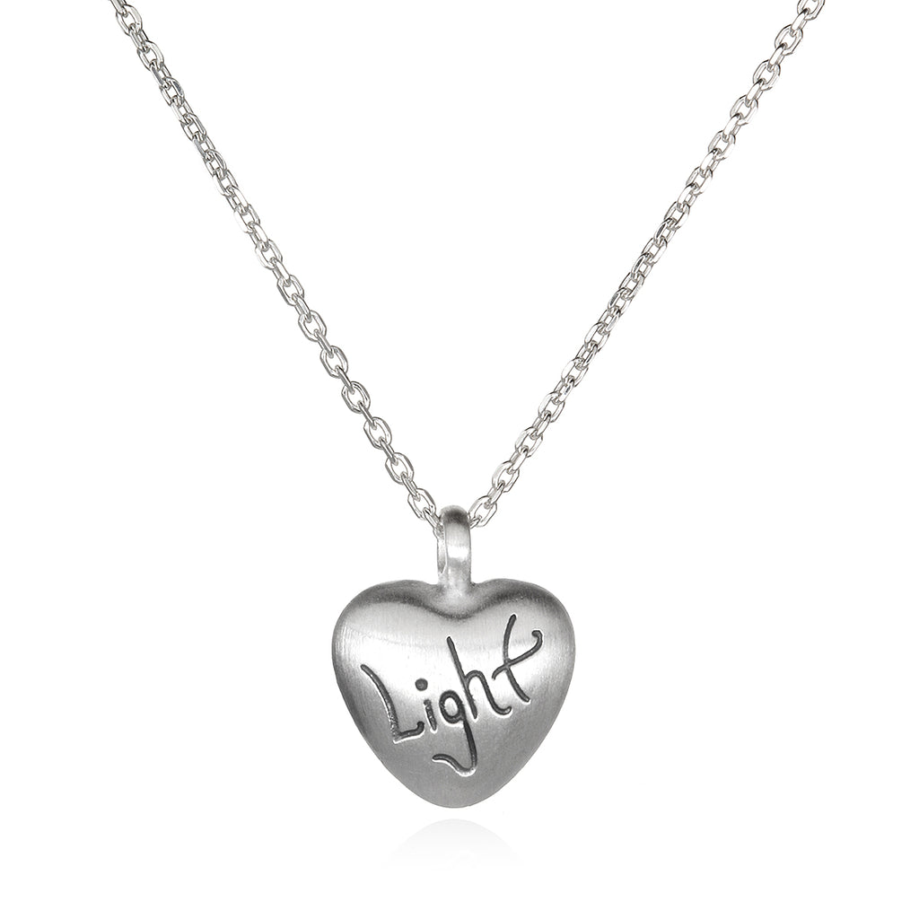 Love & Light - Silver Light Heart Necklace - Satya Jewelry