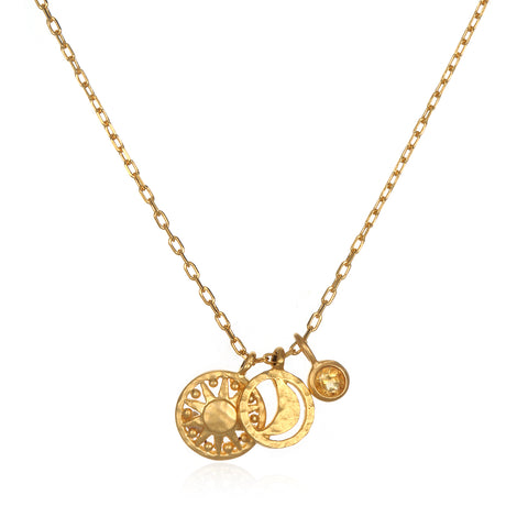 The AstroTwins Aquarius Zodiac Necklace