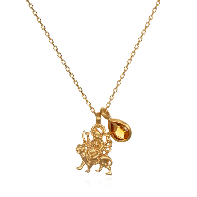 The Solluna Fearless Goddess Durga Necklace - Satya Jewelry
