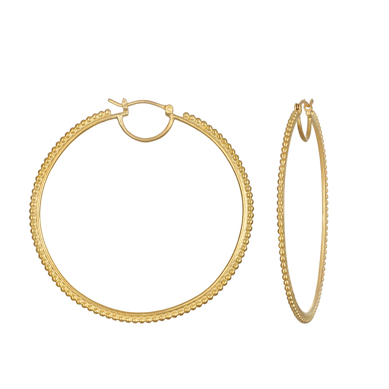 Infinite Energy Gold Hoop Earring - Satya Jewelry