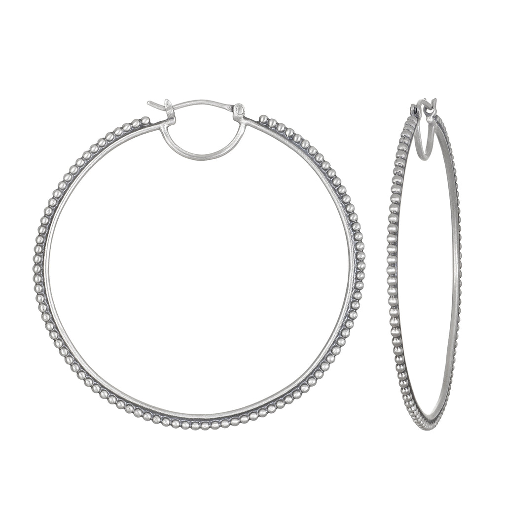 Infinite Energy Silver Hoop Earring - Satya Jewelry