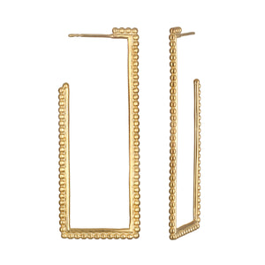Structural Simplicity Gold Earring - Satya Jewelry