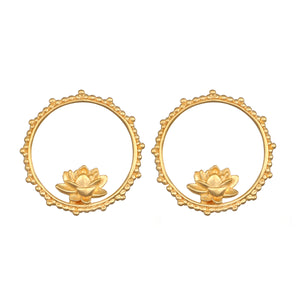 Emerging Beauty Gold Earrings - Satya Jewelry