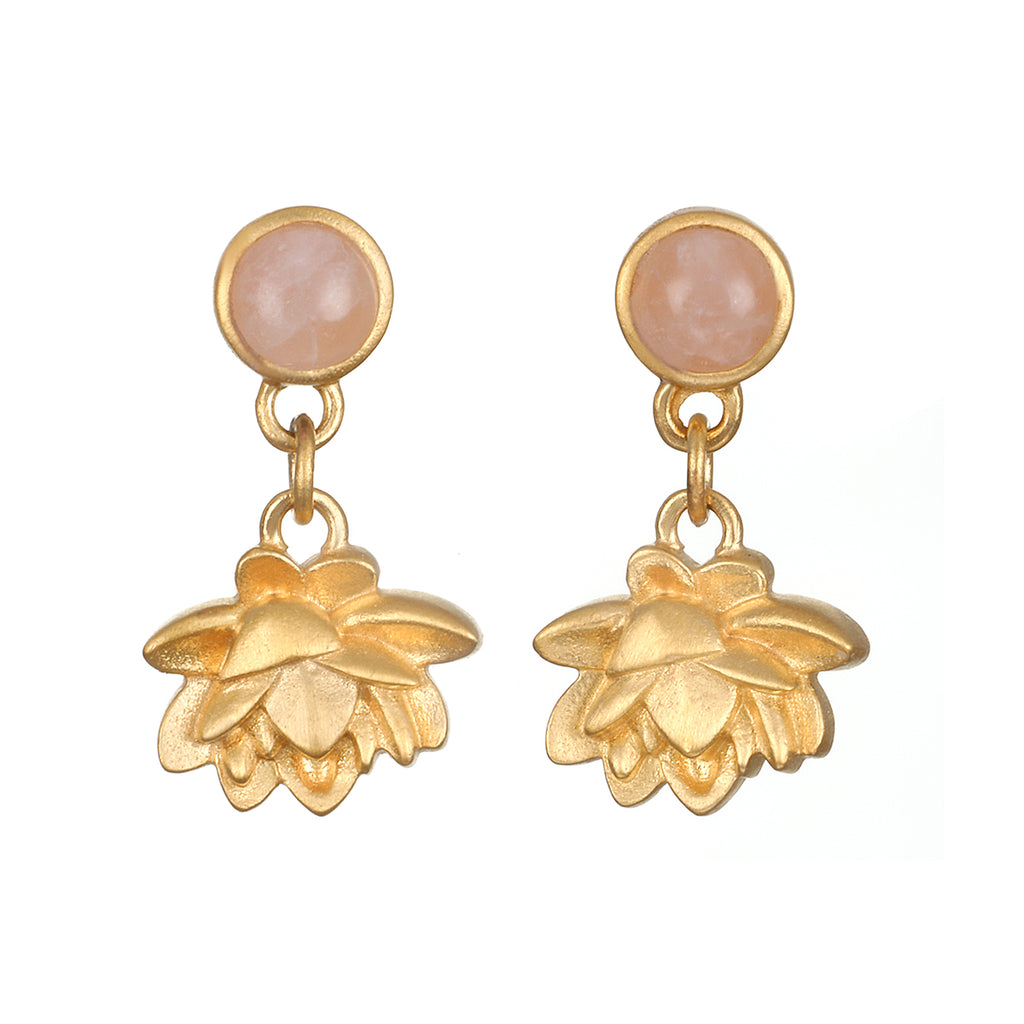 Blooming Compassion Gold Earrings - Satya Jewelry
