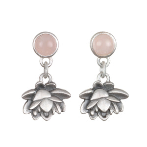 Blooming Compassion Silver Earrings - Satya Jewelry