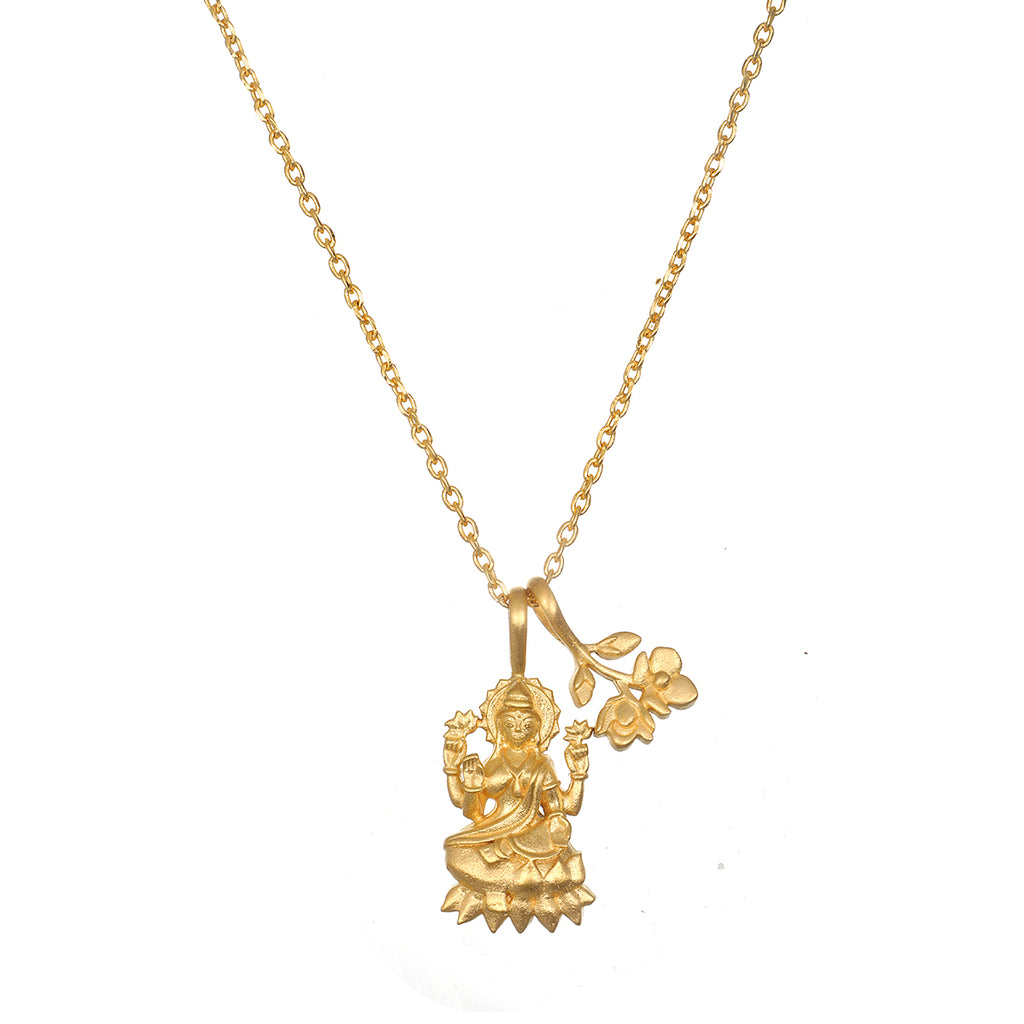 Lakshmi Hindu Goddess, Awaken Abundance Necklace - Satya Jewelry