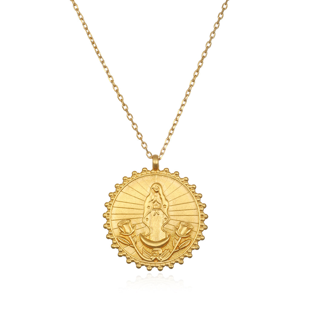 Our Lady of Guadalupe, Divine Mother Necklace - Satya Jewelry