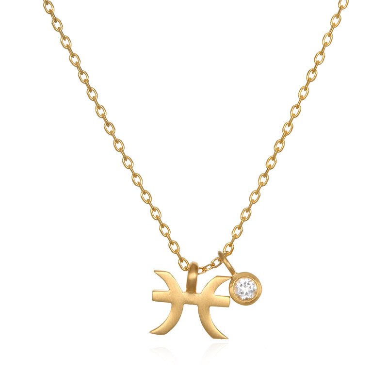 The AstroTwins Pisces Zodiac Necklace - Satya Jewelry