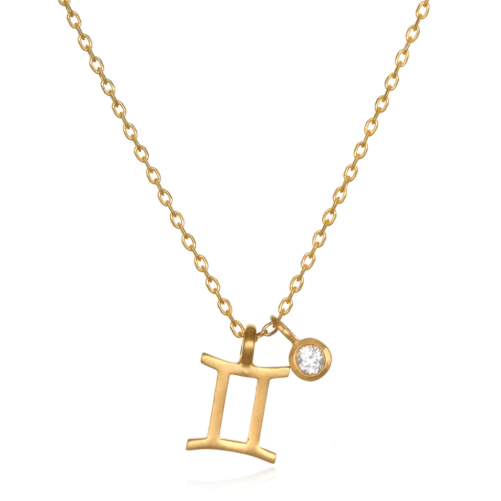 The AstroTwins Gemini Zodiac Necklace