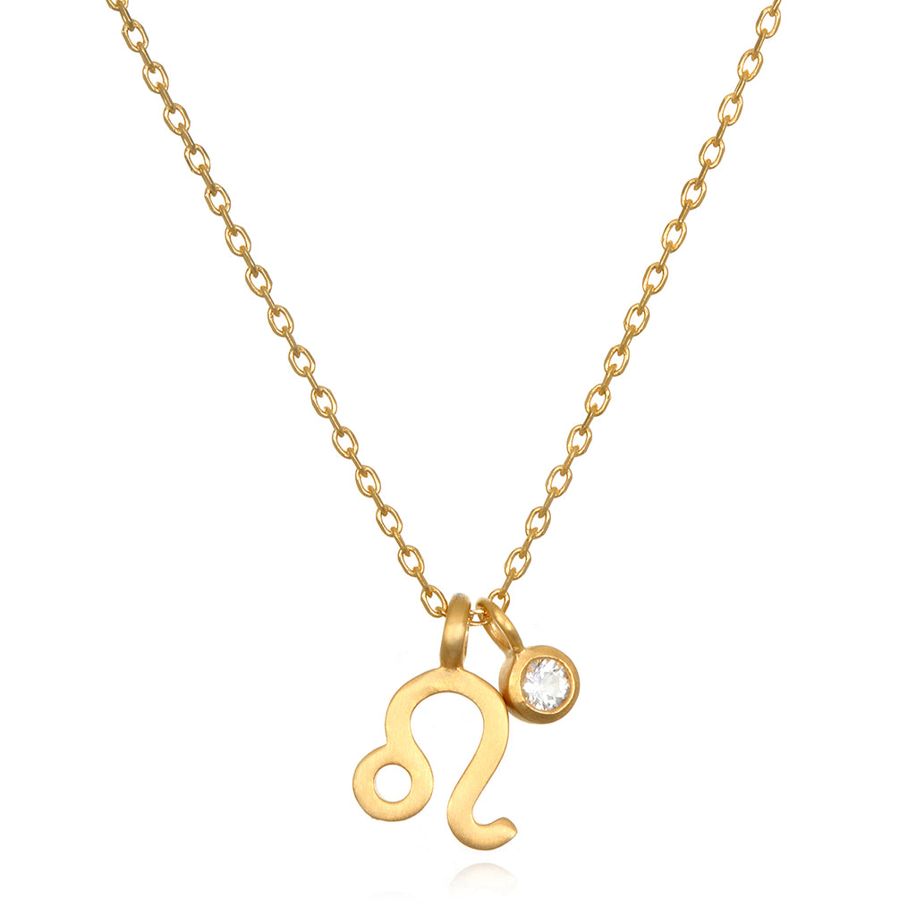 The Astrotwins Leo Zodiac Necklace Satya Jewelry