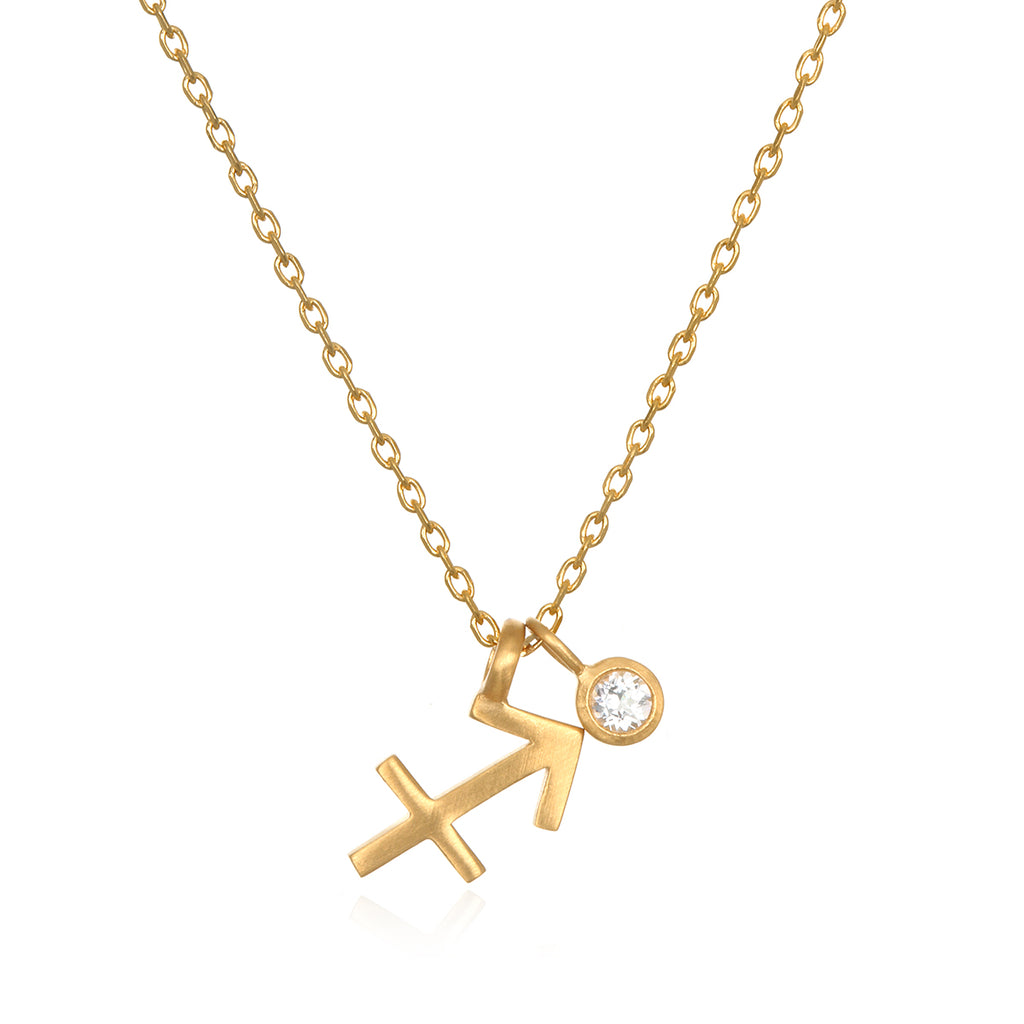The AstroTwins Sagittarius Zodiac Necklace - Satya Jewelry