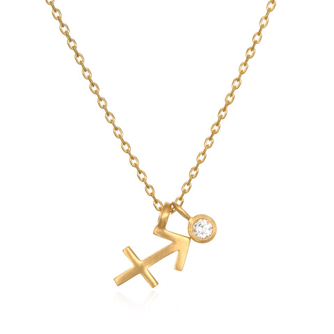 The AstroTwins Leo Zodiac Necklace