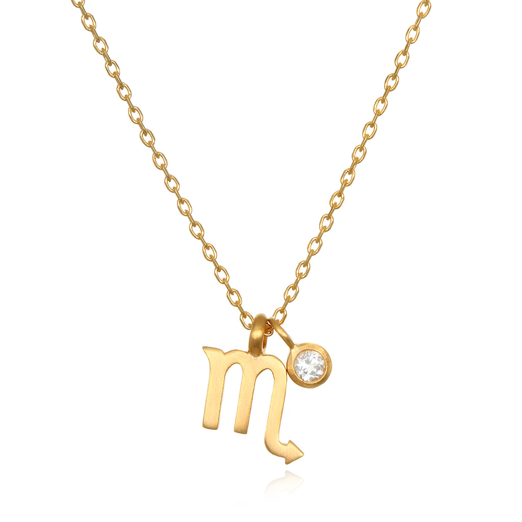 The AstroTwins Scorpio Zodiac Necklace - Satya Jewelry