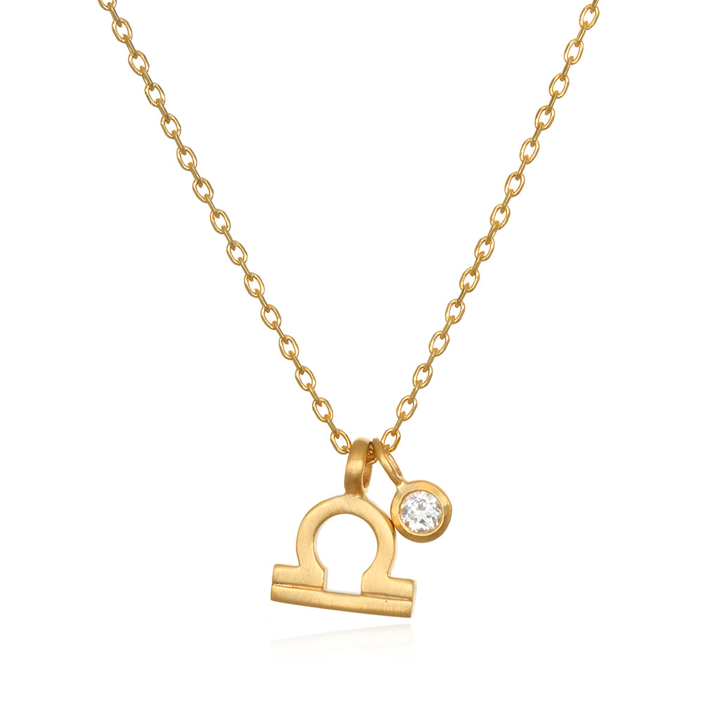 The AstroTwins Libra Zodiac Necklace - Satya Jewelry