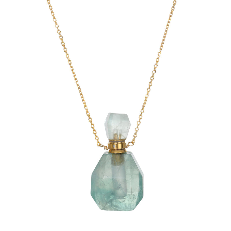 Jade Gemstone Vial Necklace