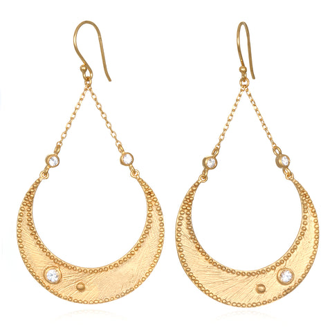 Gold Veils Earrings - Petal Chandelier