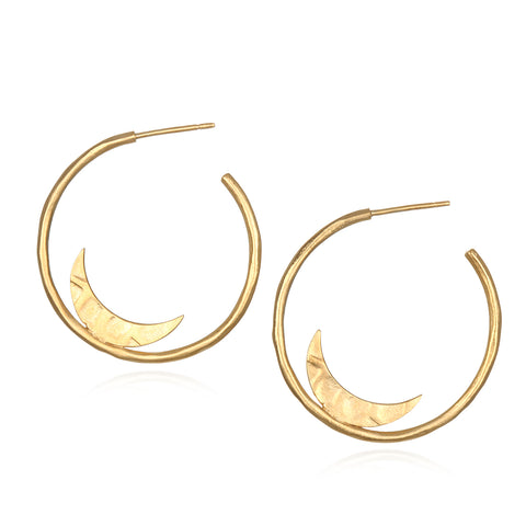 Gold Small Samsara Hoop Earrings