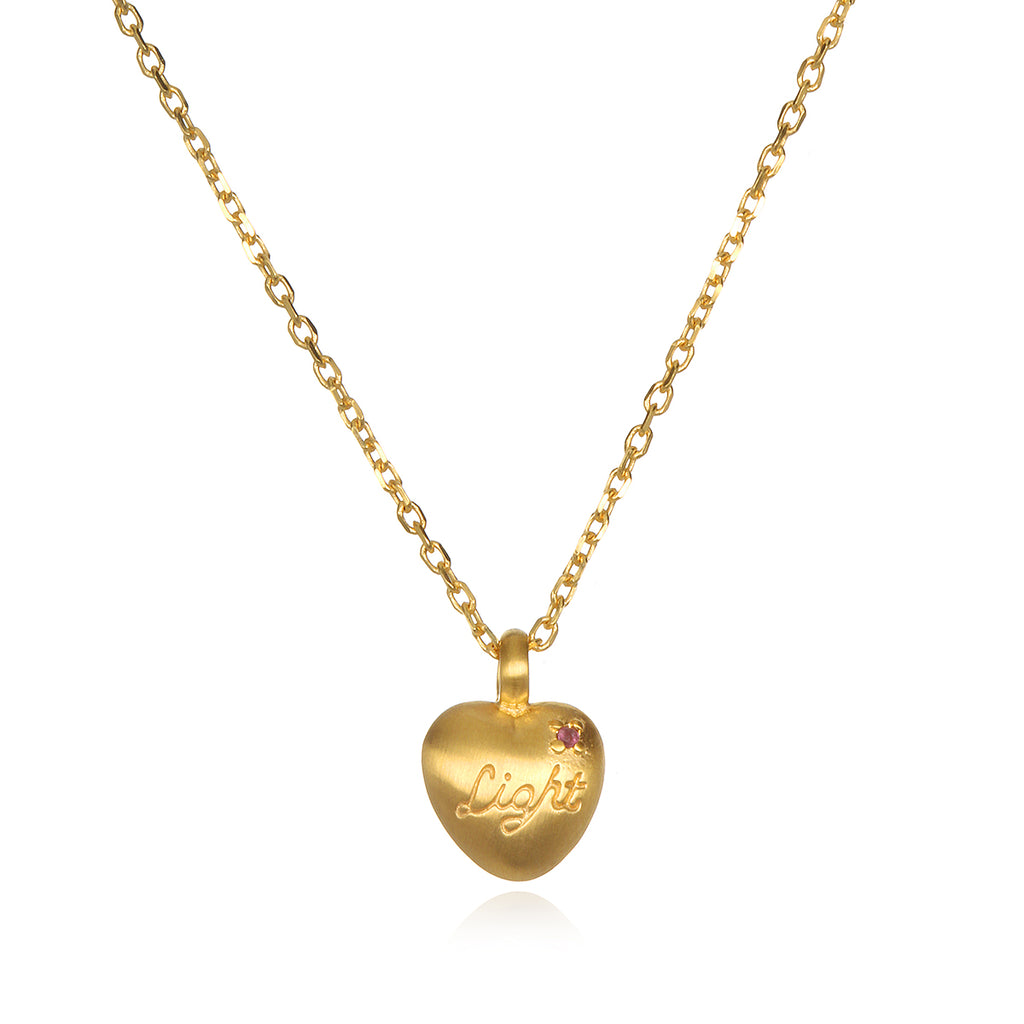 Infinite Love & Light Heart Necklace