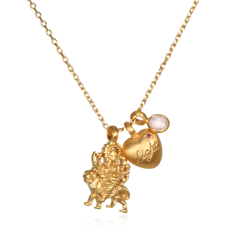 Goddess Durga Love Charm Necklace - Kimberly Snyder - Satya Jewelry
